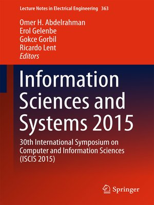 cover image of Information Sciences and Systems 2015