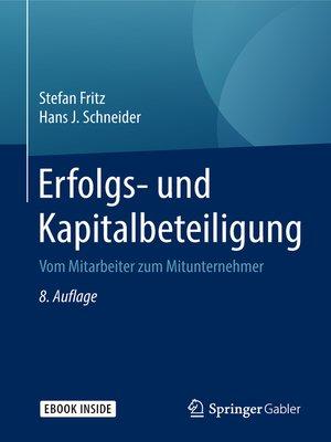 cover image of Erfolgs- und Kapitalbeteiligung