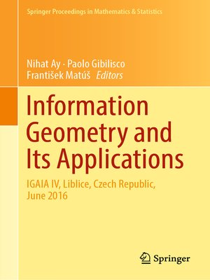 cover image of Information Geometry and Its Applications