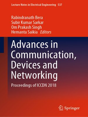 cover image of Advances in Communication, Devices and Networking
