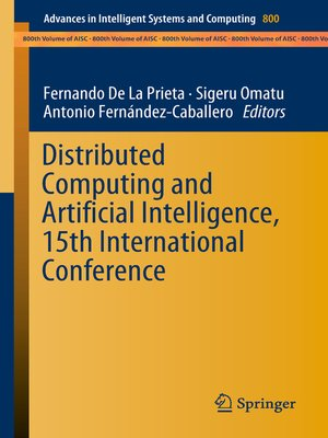 cover image of Distributed Computing and Artificial Intelligence, 15th International Conference