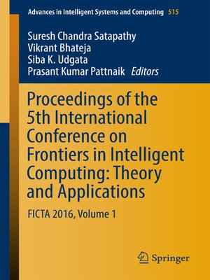 cover image of Proceedings of the 5th International Conference on Frontiers in Intelligent Computing