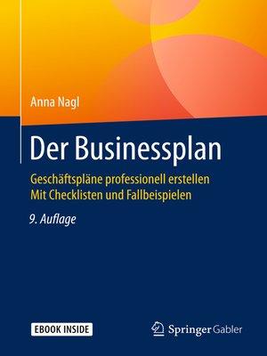 cover image of Der Businessplan