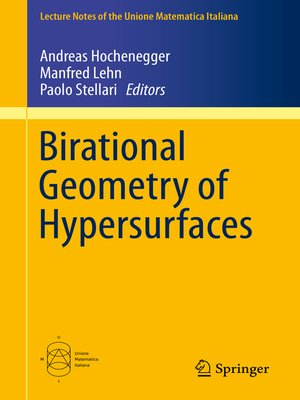 cover image of Birational Geometry of Hypersurfaces