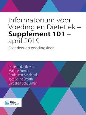 cover image of Informatorium voor Voeding en Diëtetiek – Supplement 101 – april 2019
