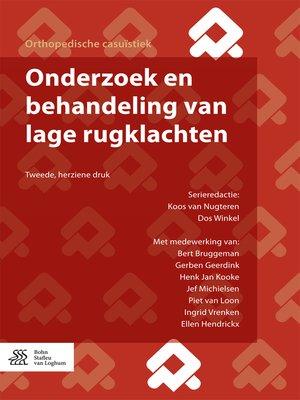 cover image of Onderzoek en behandeling van lage rugklachten
