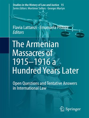 cover image of The Armenian Massacres of 1915–1916 a Hundred Years Later
