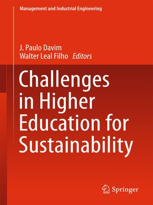 cover image of Challenges in Higher Education for Sustainability