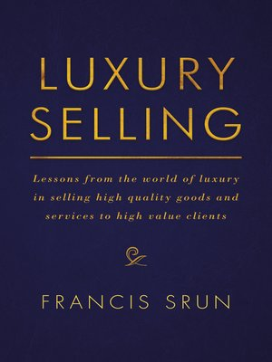 cover image of Luxury Selling