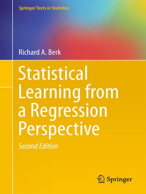 cover image of Statistical Learning from a Regression Perspective