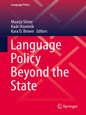 cover image of Language Policy Beyond the State