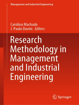 cover image of Research Methodology in Management and Industrial Engineering