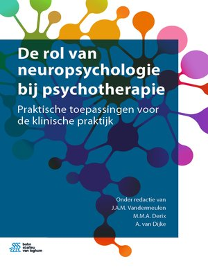 cover image of De rol van neuropsychologie bij psychotherapie
