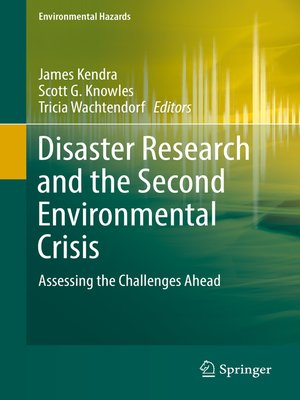 cover image of Disaster Research and the Second Environmental Crisis