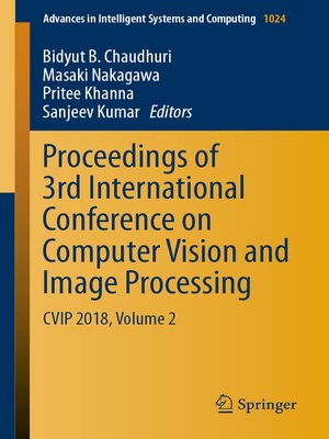 cover image of Proceedings of 3rd International Conference on Computer Vision and Image Processing