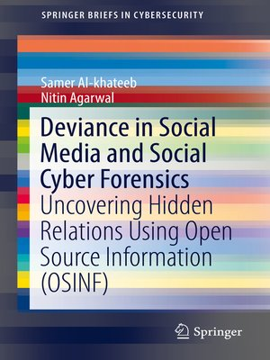 cover image of Deviance in Social Media and Social Cyber Forensics