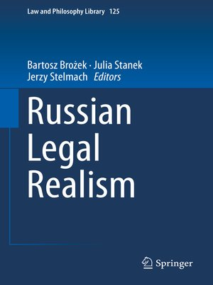 cover image of Russian Legal Realism