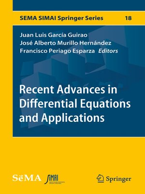 cover image of Recent Advances in Differential Equations and Applications
