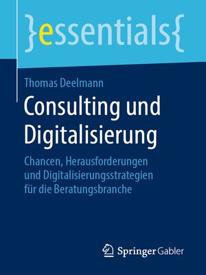 cover image of Consulting und Digitalisierung