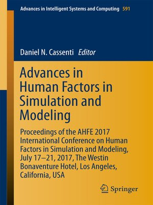 cover image of Advances in Human Factors in Simulation and Modeling