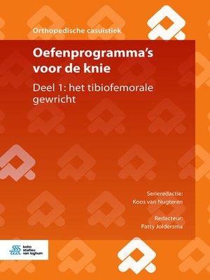 cover image of Oefenprogramma's voor de knie