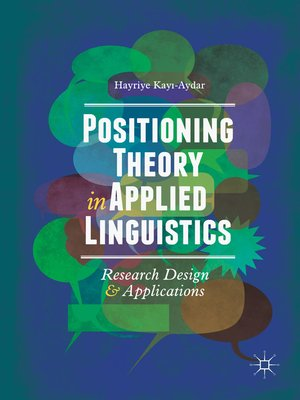 cover image of Positioning Theory in Applied Linguistics