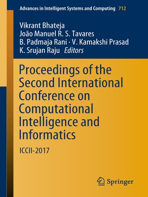 cover image of Proceedings of the Second International Conference on Computational Intelligence and Informatics