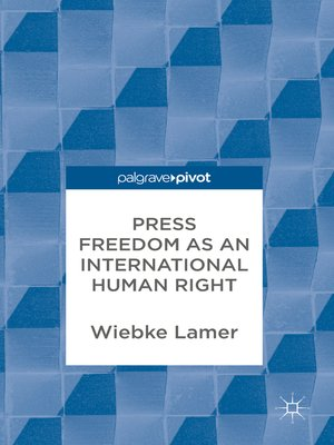 cover image of Press Freedom as an International Human Right
