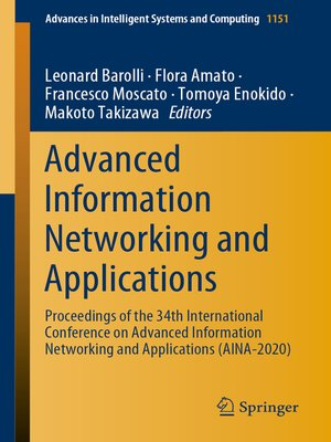 cover image of Advanced Information Networking and Applications
