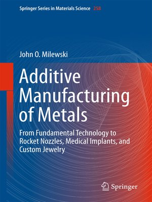 cover image of Additive Manufacturing of Metals