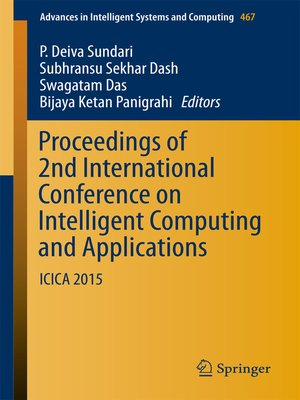 cover image of Proceedings of 2nd International Conference on Intelligent Computing and Applications