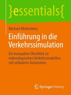 cover image of Einführung in die Verkehrssimulation