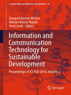 cover image of Information and Communication Technology for Sustainable Development