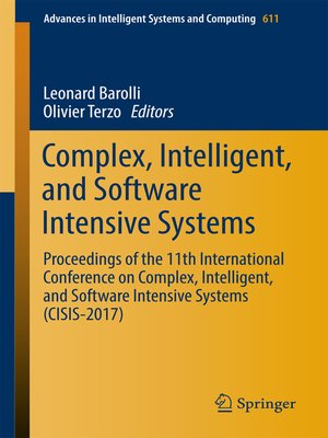 cover image of Complex, Intelligent, and Software Intensive Systems