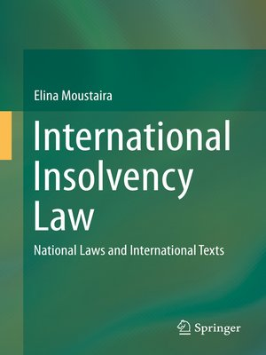 cover image of International Insolvency Law