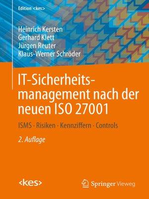 cover image of IT-Sicherheitsmanagement nach der neuen ISO 27001