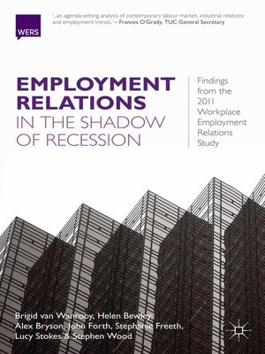 cover image of Employment Relations in the Shadow of Recession