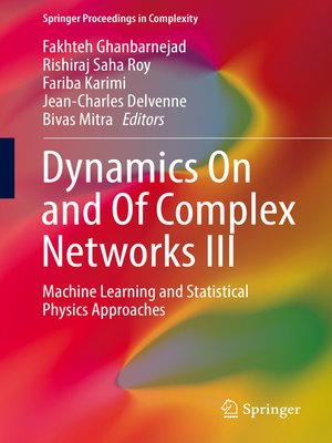 cover image of Dynamics On and of Complex Networks III