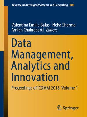 cover image of Data Management, Analytics and Innovation