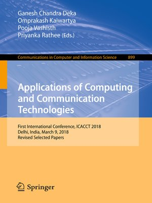 cover image of Applications of Computing and Communication Technologies