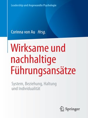 cover image of Wirksame und nachhaltige Führungsansätze