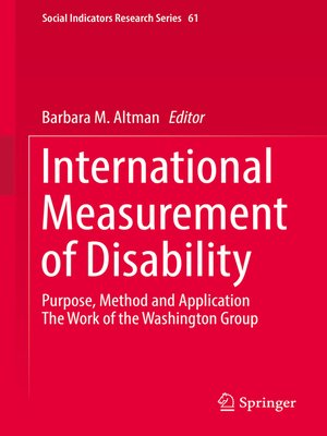 cover image of International Measurement of Disability