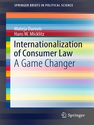 cover image of Internationalization of Consumer Law