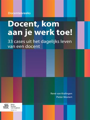 cover image of Docent, kom aan je werk toe!