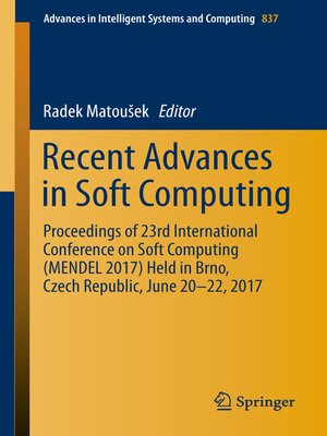 cover image of Recent Advances in Soft Computing