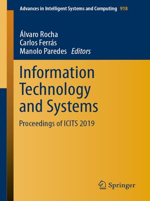 cover image of Information Technology and Systems