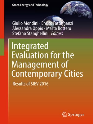cover image of Integrated Evaluation for the Management of Contemporary Cities