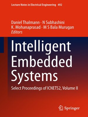 cover image of Intelligent Embedded Systems