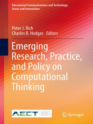 cover image of Emerging Research, Practice, and Policy on Computational Thinking