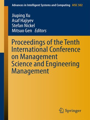 cover image of Proceedings of the Tenth International Conference on Management Science and Engineering Management